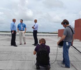 Brendan Edgerton (MBA/MEM '15) at work and on camera